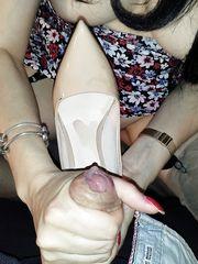Sega fetish con venuta nelle scarpe