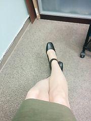 seflie hot dall'ufficio