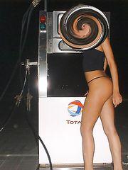 Alessia porca romana nuda alla pompa di benzina