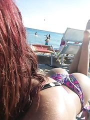 Selfie in vacanza rossa italiana