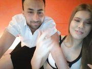 Giovane coppia italiana porcella