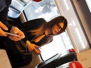 Bella gnocca in treno