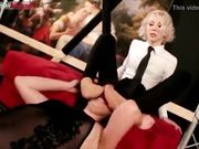 Piedi in faccia alla slave e umiliazione della mistress