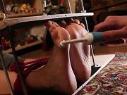 Italian model Feet Tickled