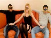 Martina troia di bergamo in un trio con 2 amici