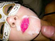 Diana sborrata in faccia in Costa azzurra