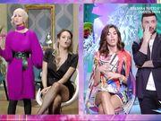 Sexy cosce in  collant in Tv celebrità italiane