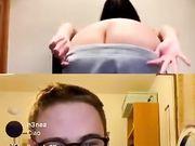 Max Felicitas live con ragazza che fa spogliarello
