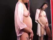 Masturbazione blasfema troia incinta italiana