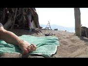 Mia moglie nuda in spiaggia